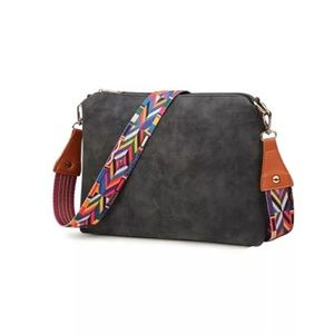 SALE $25-Charcoal Black Crossbody